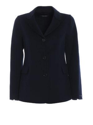 Max Mara: giacche blazer - Blazer Tarallo in lana e angora blu