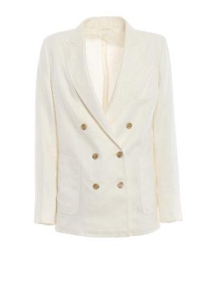Max Mara: giacche blazer - Blazer doppiopetto Urta in lino