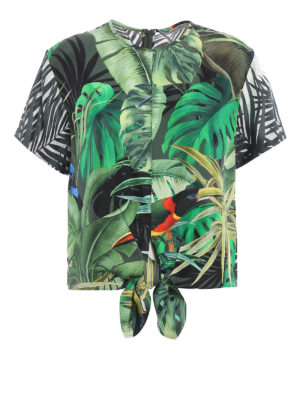 Max Mara: blouses - Afro tropical print blouse