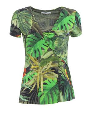 Max Mara: blouses - Cannes tropical print blouse