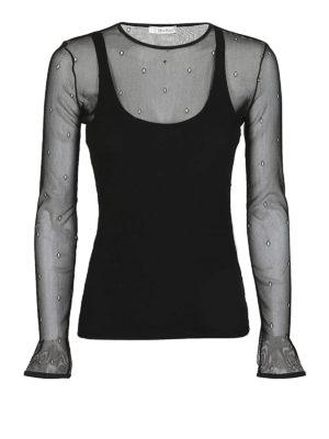 Max Mara: bluse - Top in rete a maniche lunghe Nadar