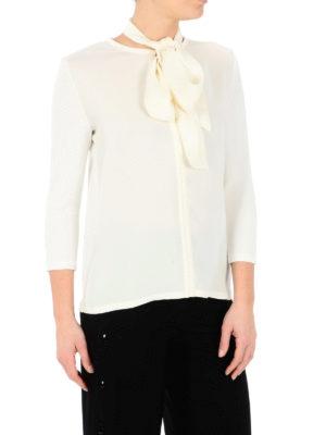 Max Mara: blouses online - Autore silk bow collar jersey top