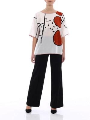 Max Mara: blouses online - Kassel short sleeves silk blouse