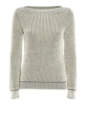 Max Mara: boat necks - Nasello cotton blend sweater
