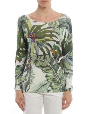 Max Mara: boat necks online - Tempo tropical print sweater