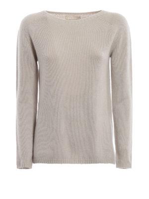 Max Mara: maglia collo a barchetta - Pull Giorgi in cashmere grigio perla