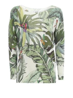 Max Mara: boat necks - Tempo tropical print sweater