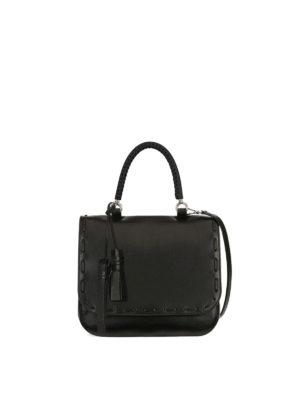 Max Mara: bowling bags - Bobag single handle leather bag