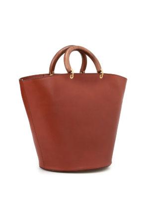 Max Mara: Bucket bags online - Topsh05 leather handbag