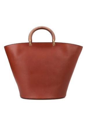 Max Mara: Bucket bags - Topsh05 leather handbag