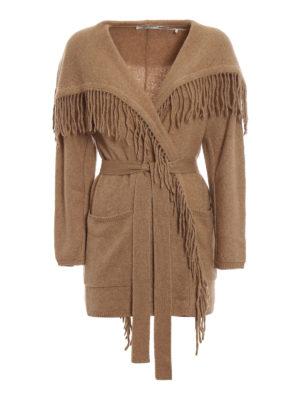 Max Mara: cardigan - Cardigan Melinda in lana con frange
