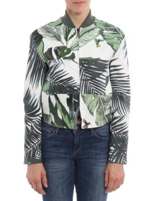 Max Mara: casual jackets online - Tema leaf print jacket