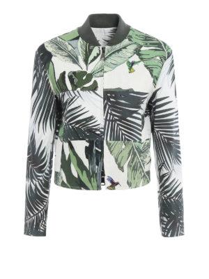 Max Mara: casual jackets - Tema leaf print jacket