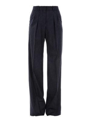 Max Mara: casual trousers - Arona pinstriped wool trousers