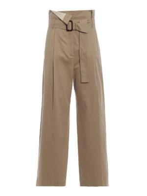 Max Mara: pantaloni casual - Pantaloni Ebro gamba larga in drill di cotone