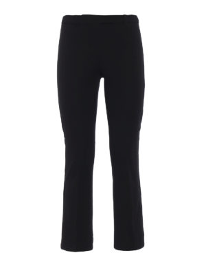 Max Mara: pantaloni casual - Pantaloni Fatina in cotone stretch nero