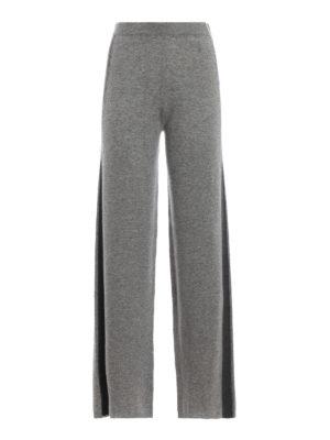 Max Mara: pantaloni casual - Pantaloni Filante in lana e cashmere grigi