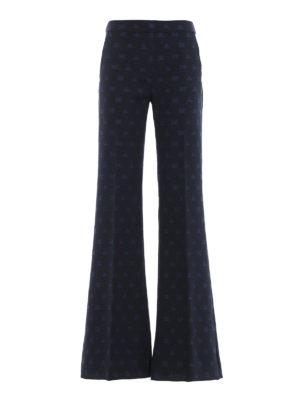 Max Mara: pantaloni casual - Pantaloni Gioire in misto cotone jacquard