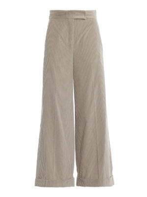Max Mara: pantaloni casual - Pantaloni Gondola in velluto a costine