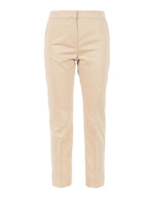 Max Mara: casual trousers - Guglia cotton satin trousers