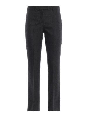 Max Mara: pantaloni casual - Pantaloni Lina in flanella taglio maschile