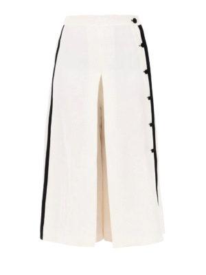 Max Mara: casual trousers - Nievo linen and silk culottes