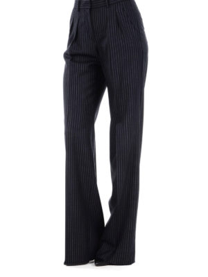 Max Mara: casual trousers online - Arona pinstriped wool trousers