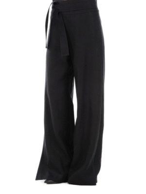 Max Mara: casual trousers online - Betta linen wide leg trousers