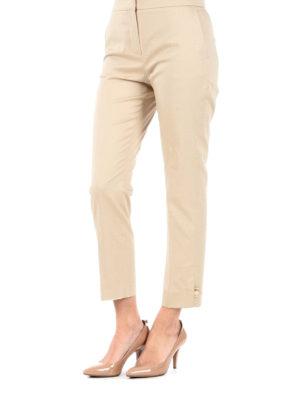 Max Mara: casual trousers online - Guglia cotton satin trousers