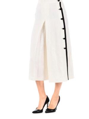 Max Mara: casual trousers online - Nievo linen and silk culottes