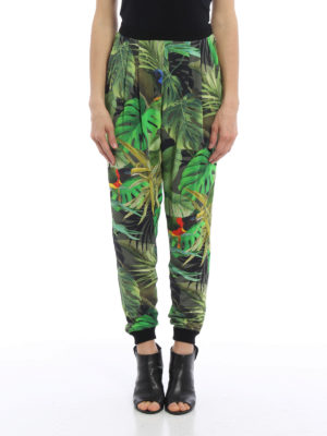 Max Mara: casual trousers online - Panfilo tropical print trousers