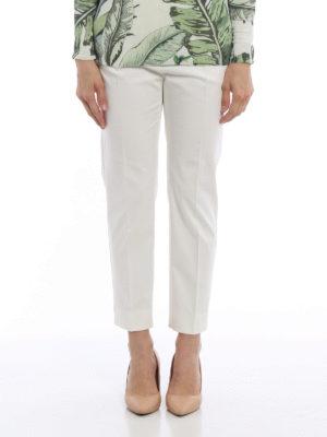 Max Mara: casual trousers online - Pau crop cotton trousers