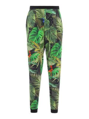 Max Mara: casual trousers - Panfilo tropical print trousers