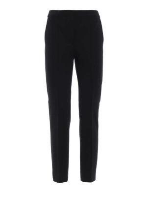 Max Mara: pantaloni casual - Pantaloni neri Pegno in doppio jersey