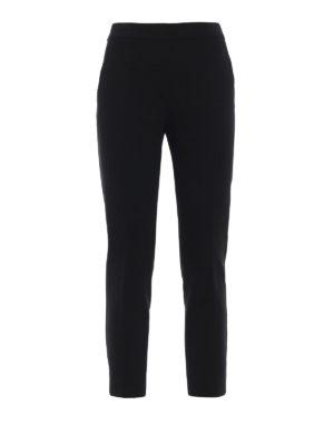 Max Mara: pantaloni casual - Pantaloni Pegno in doppio jersey nero