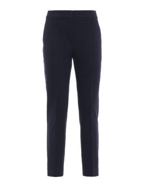 Max Mara: pantaloni casual - Pantaloni Pegno in doppio jersey blu