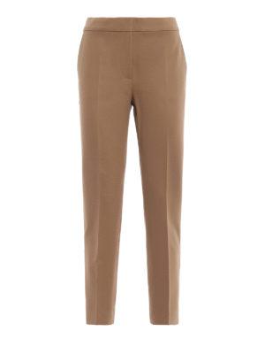 Max Mara: pantaloni casual - Pantaloni Pegno in doppio jersey cammello