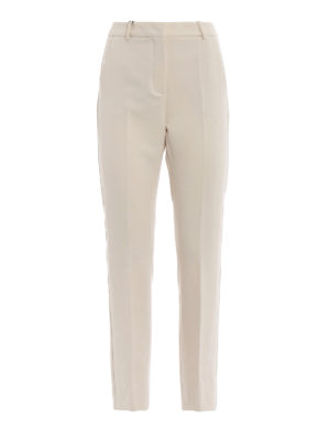 Max Mara: pantaloni casual - Chino in cady di viscosa stretch Pesche