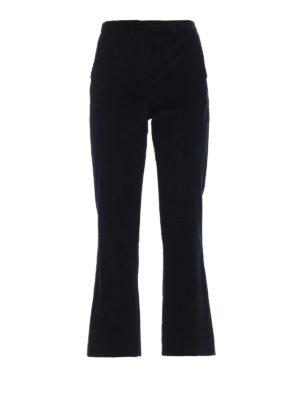 Max Mara: pantaloni casual - Pantaloni Saigon in velluto a coste blu
