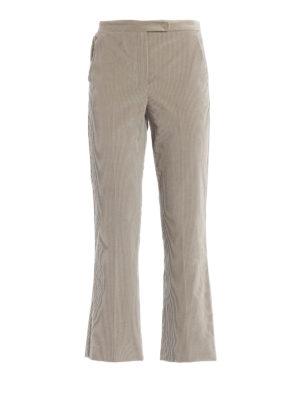 Max Mara: pantaloni casual - Pantaloni Saigon in velluto a coste