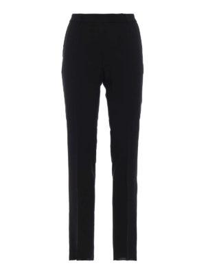 Max Mara: pantaloni casual - Pantaloni sigaretta Stilla in lana nera
