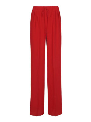 Max Mara: pantaloni casual - Pantaloni Tremiti in seta rossa