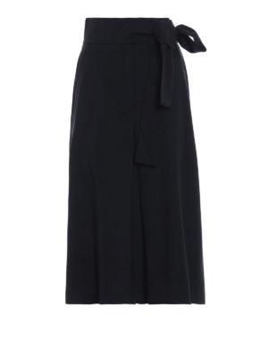 Max Mara: pantaloni casual - Culotte vita alta Vista in gabardina di lana