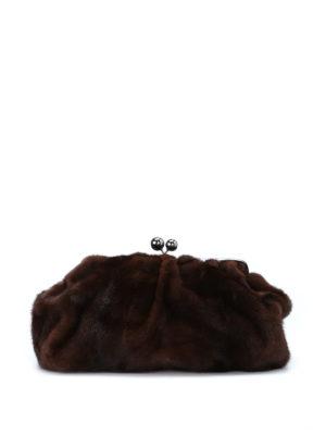 Max Mara: clutches - Colette mink clutch