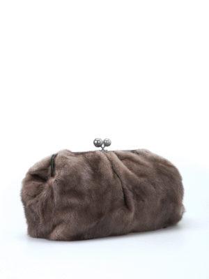 Max Mara: clutches online - Colette mink clutch