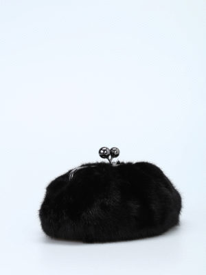 Max Mara: clutches online - Patty mini mink clutch
