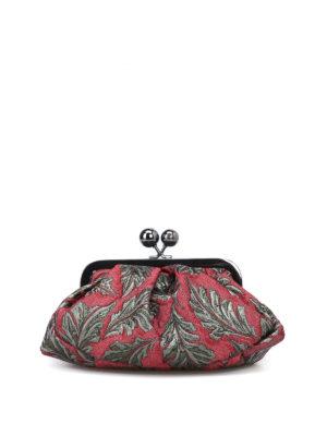Max Mara: pochette - Pasticcino Bag Mini in tessuto jacquard
