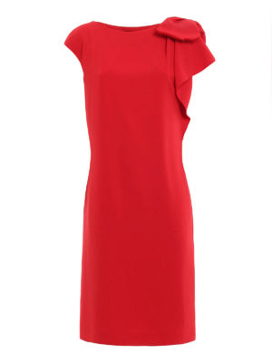Max Mara: cocktail dresses - Cannone bow detail dress