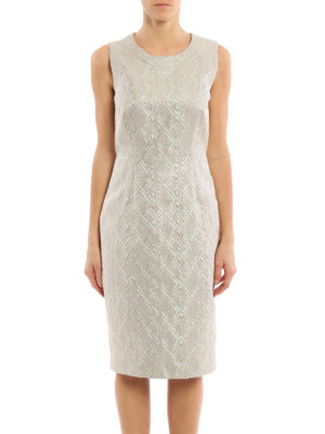 Max Mara: cocktail dresses online - Accento brocade dress