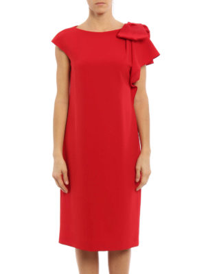 Max Mara: cocktail dresses online - Cannone bow detail dress